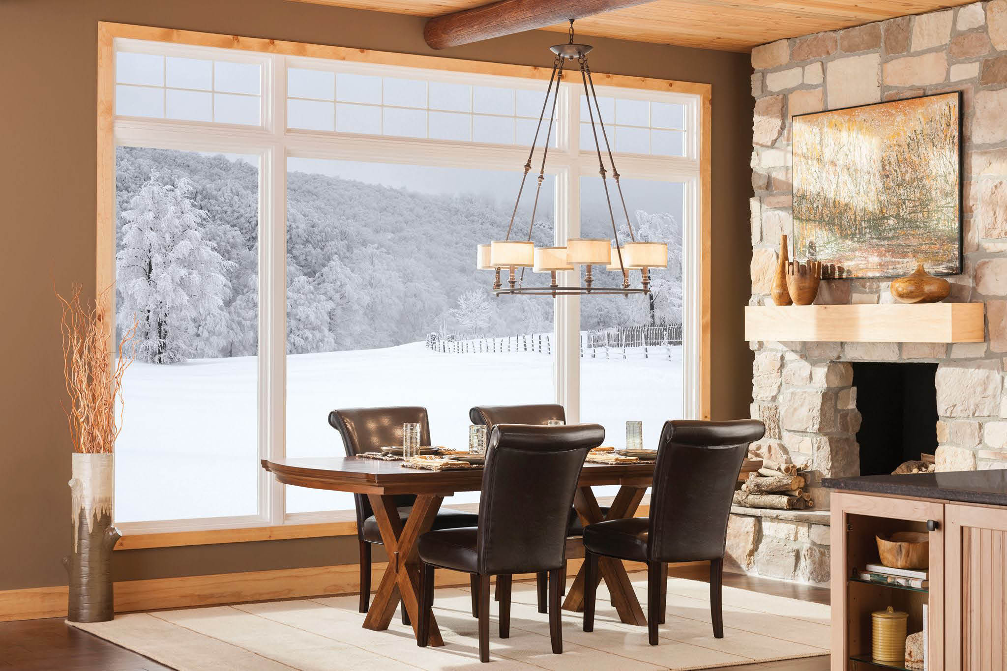 Add more light to home with large bay window in living room or dining room