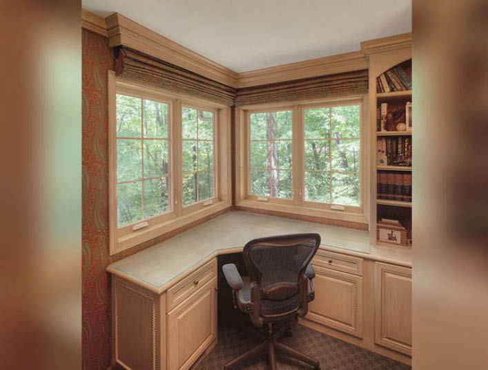 New windows in the home office by Marvin