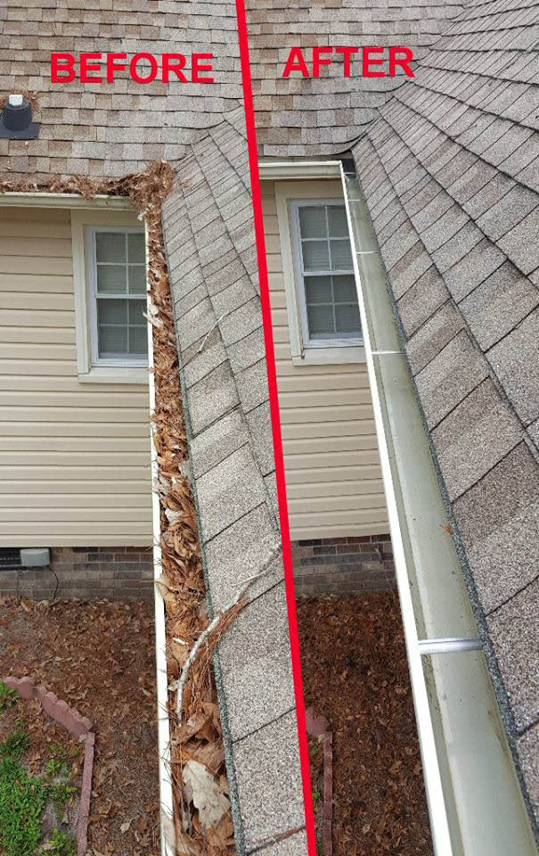 Gutter cleaning, home improvement
