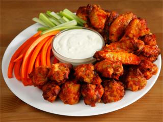 Try our hot wings appetizer at Triano's.
