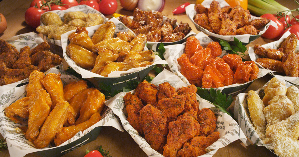 An assortment of our wing flavors from Wingstop in Wharton NJ & Union NJ