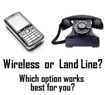 Wireless cell or land line phone security systems