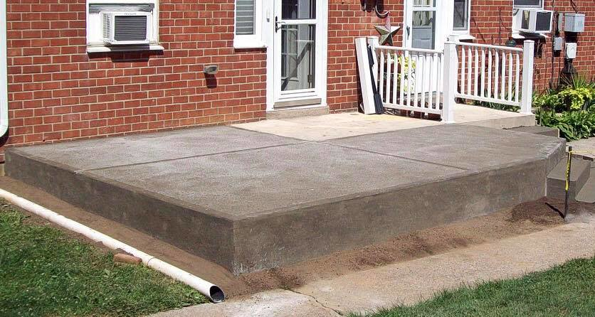 raised concrete foundation