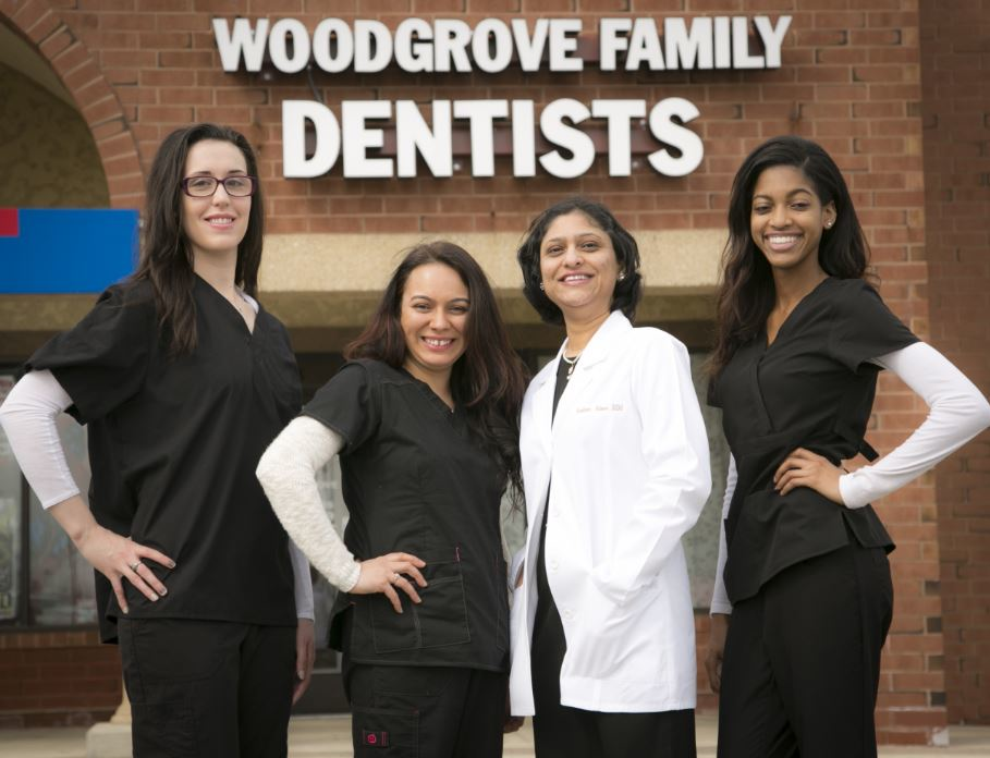 Woodgrove Family Dentists staff, dental hygienists and Dr. Neelam Aloor dentist
