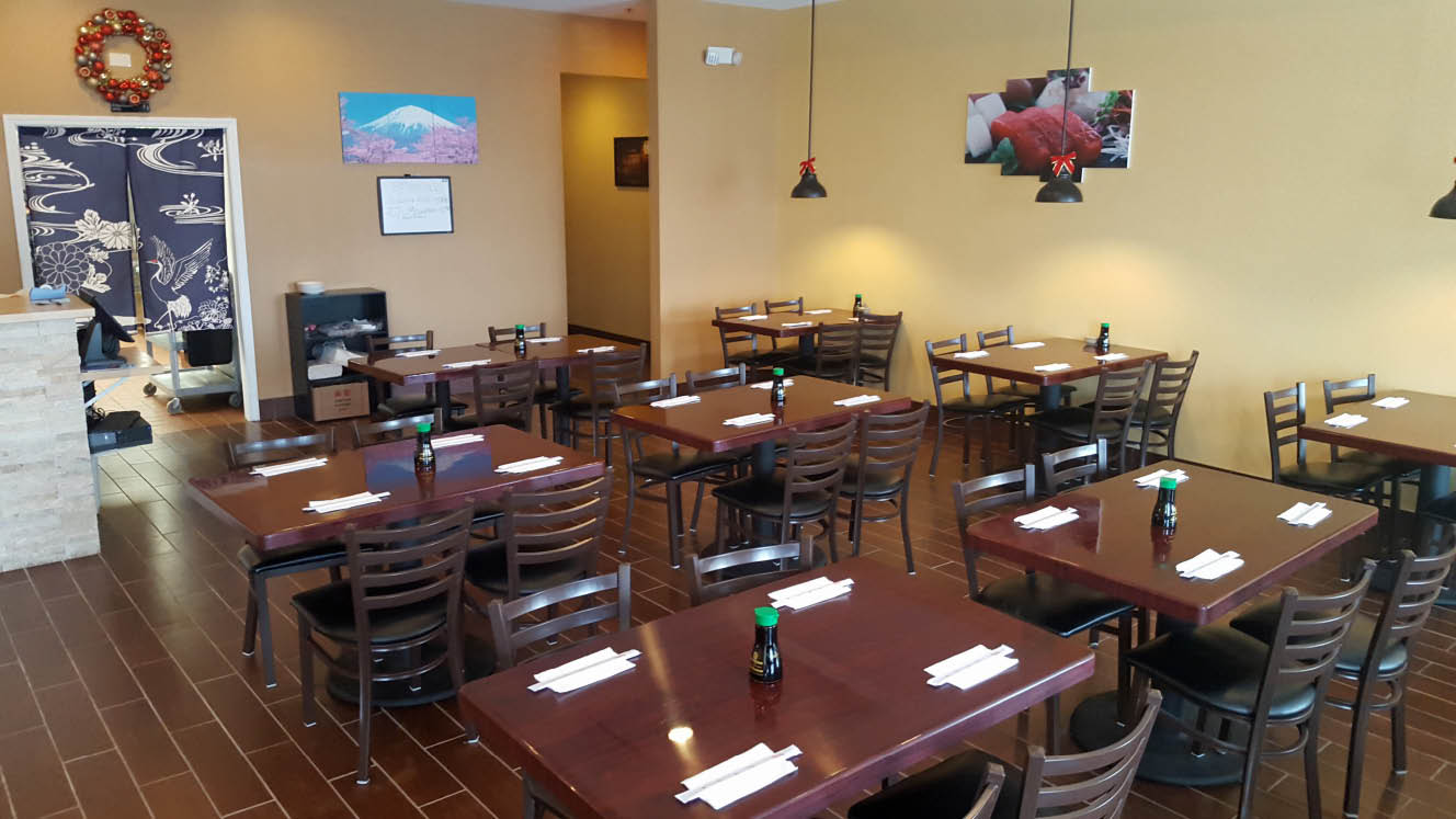 Our beautiful dining room at WowW Sushi in Homer Glen, IL.