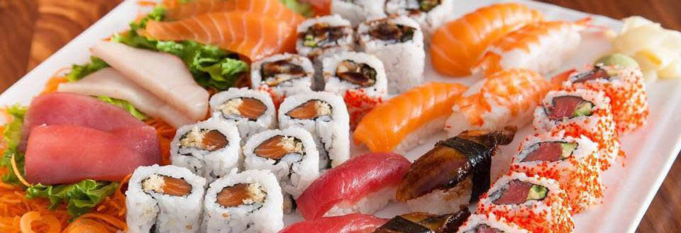 Beautiful sushi platter served at WoW Sushi  located in Homer Glen, IL.