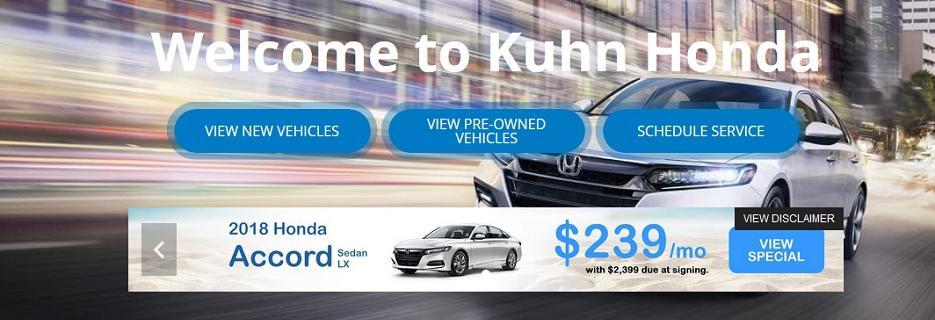 Kuhn Westshore Honda banner Tampa, FL