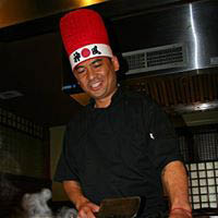 Hibachi chefs will entertain while they cook tableside