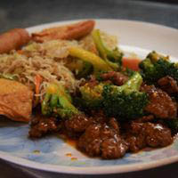 entree meal at Ying Cafe in Watauga, TX