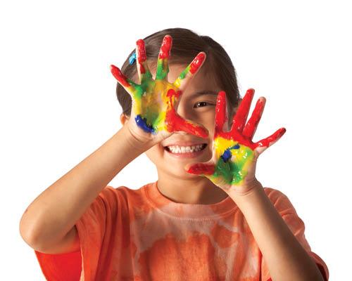 fingerpainting; Arlington-Mansfield Area YMCA