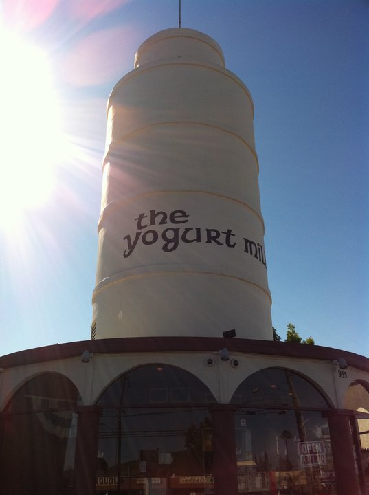 The Yogurt Mill is in The Leaning Tower on Broadway in El Cajon