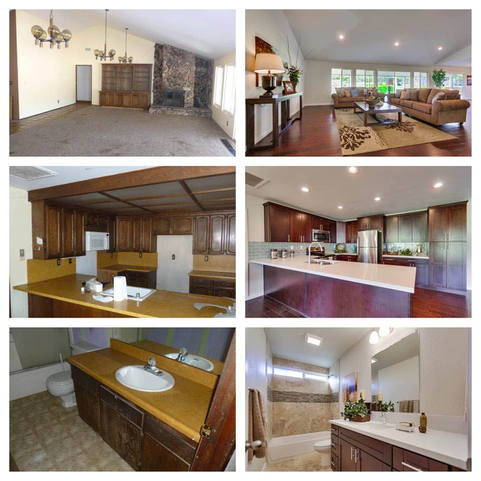 Several examples of remodeled rooms