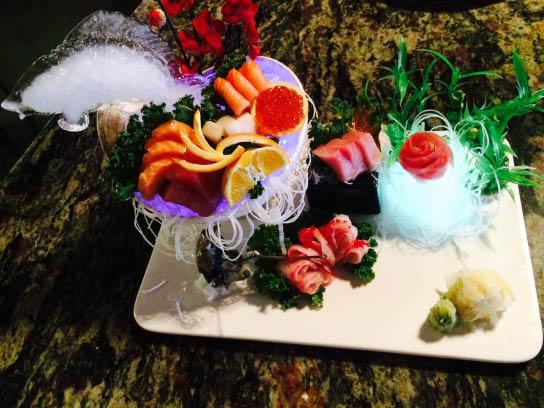 sushi tulip meal presentation from Yuniku Endless Sushi & Hibachi in Sarasota, FL