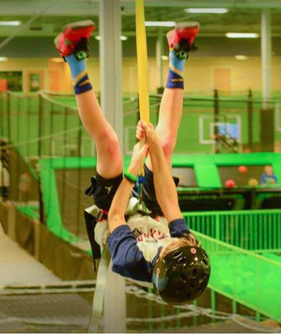 zip city indoor zip line at sports plus cincinnati ohio
