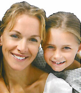 A women and her daughter smiling after teeth whitening; Zoom! teeth whitening; best teeth whitening treatment