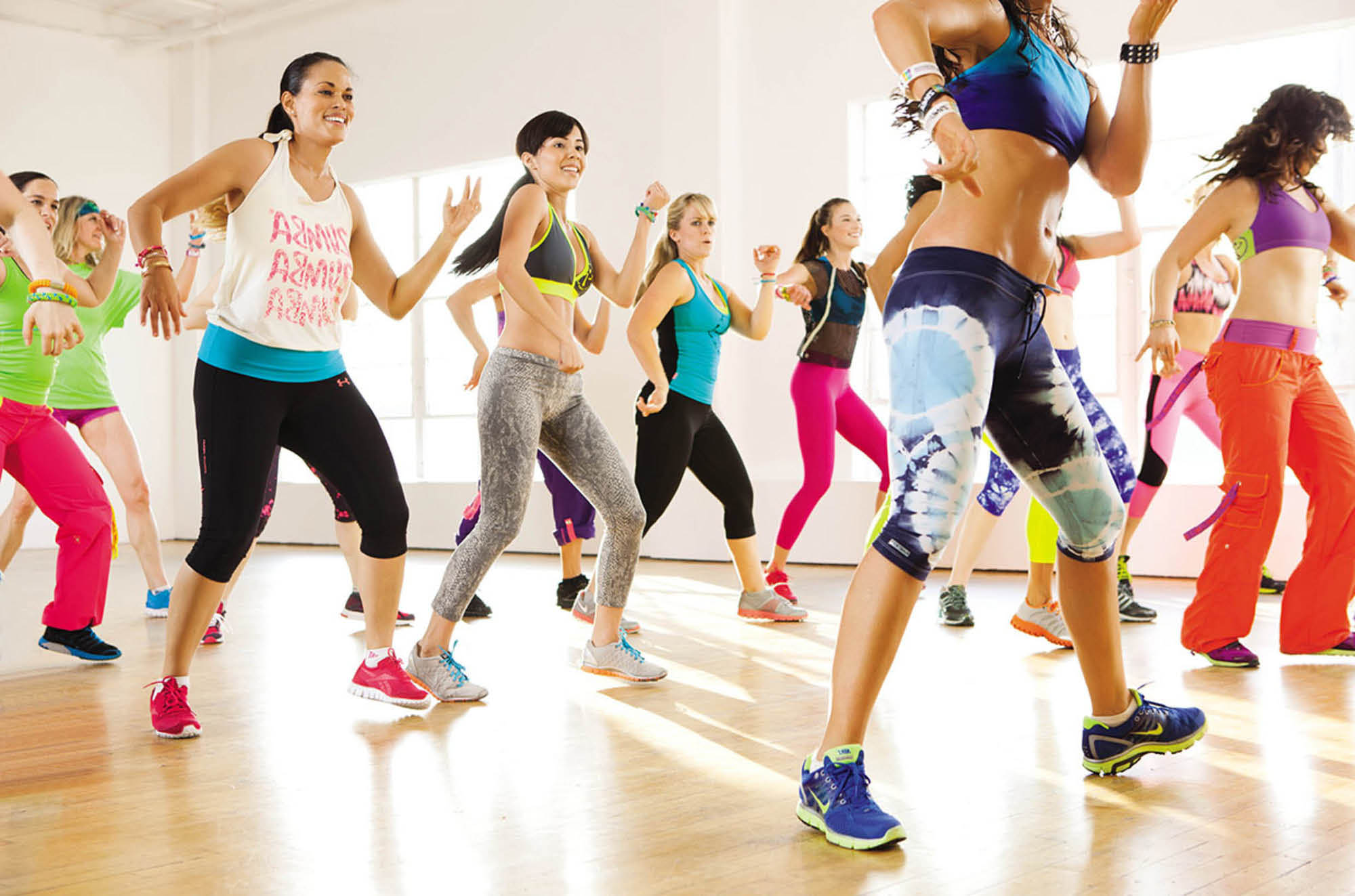 Several convenient times for Zumba classes