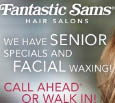 Fantastic Sams Kid's & Adult Cuts, Perm, Chi Ionic Color, facial waxing, senior discounts