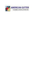 American Gutter Cleaning & Installations in Tewskbury MA logo