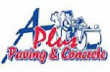 A PLUS PAVING & CONCRETE logo