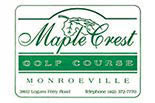 Logo for golfing with carts at Maple Crest Golf Course in Monroeville PA