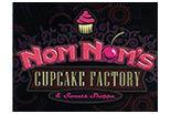NOM NOM's CUPCAKE FACTORY logo