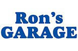 RON's GARAGE logo
