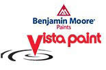 Benjamin Moore Paint at Vista Paint Stores logo in Orange County CA
