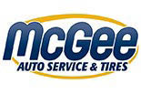 McGee Auto Service and Tires logo in Pasco County, FL discount tires  oil change coupons