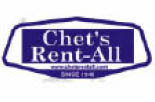 CHET's RENT-ALL - EQUIPMENT RENTAL SPECIALIST logo