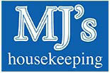 MJ's logo housekeeping house cleaning mops brooms dishes windows