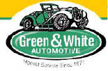 GREEN & WHITE AUTOMOTIVE logo