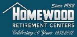 Homewood Retirement Center, Nursing Home Logo, Retirement Home Logo, Retirement Villiage Logo