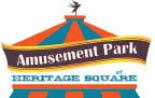 Heritage Square Amusement Park logo in Golden CO