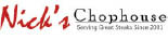 Nick's Chophouse logo in Rockville MD