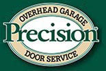Precision Garage Door logo in Irvine, CA.
