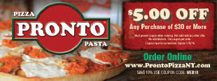 Pronto Pizza Coupons Staten Island coupons