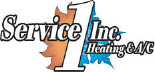 Service 1 Inc. Heating & Cooling logo