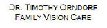 Dr. Timothy Orndorf, Family Vision Care Logo