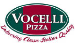 Vocelli Pizza logo in Monroeville area east of Pittsburgh, PA