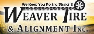 Weaver Tire & Alignment Logo, Tire Logo, Auto Body Shop, Repair, Auto Repair, Car Repair