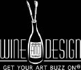 Wine and Design art studio and painting school logo for the Rahway, NJ location