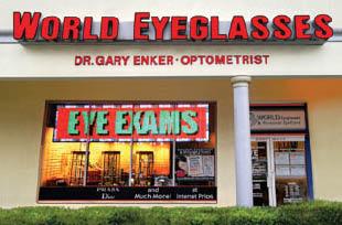WORLD EYEGLASSES DR. GARY ENKER, OPTOMETRIST logo