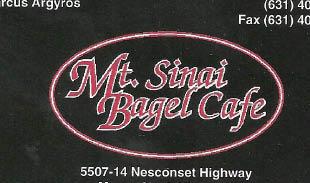 MT. SINAI BAGEL CAFE
