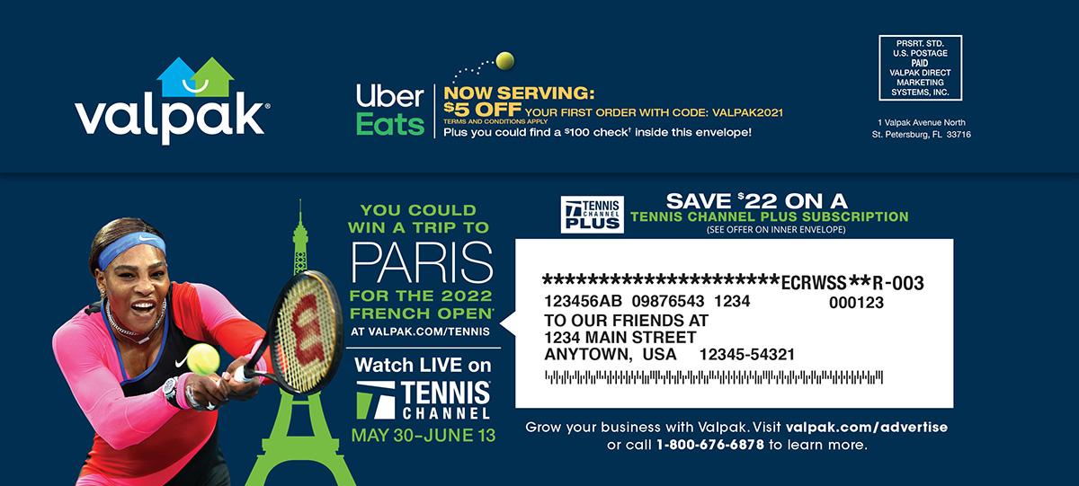 Tennis Channel Envelope