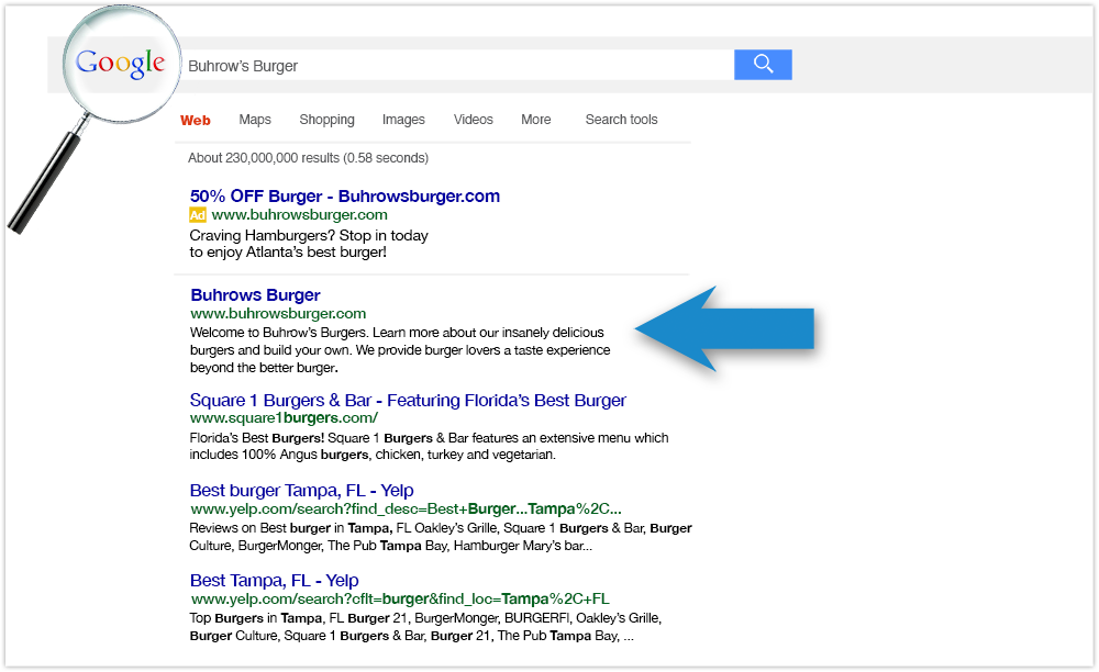 Google Search Results Pages (SERPs)
