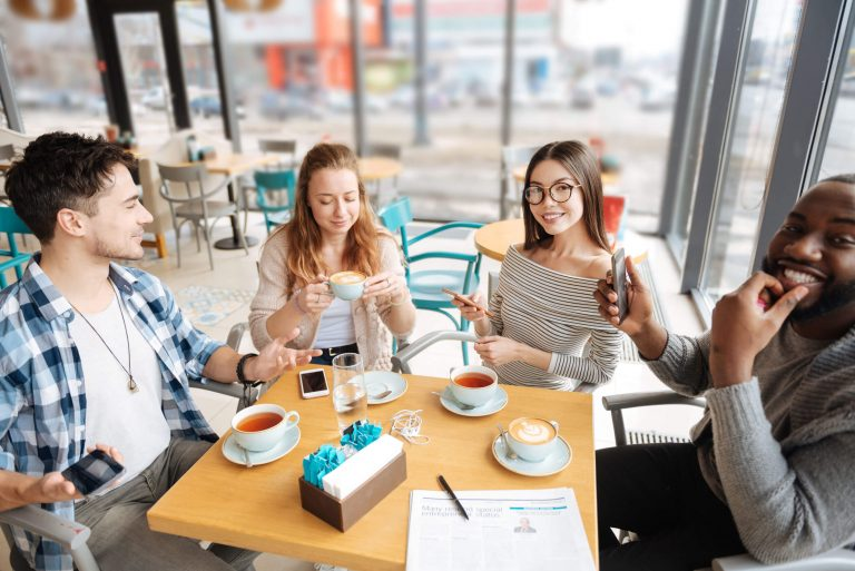 generation z in a cafe