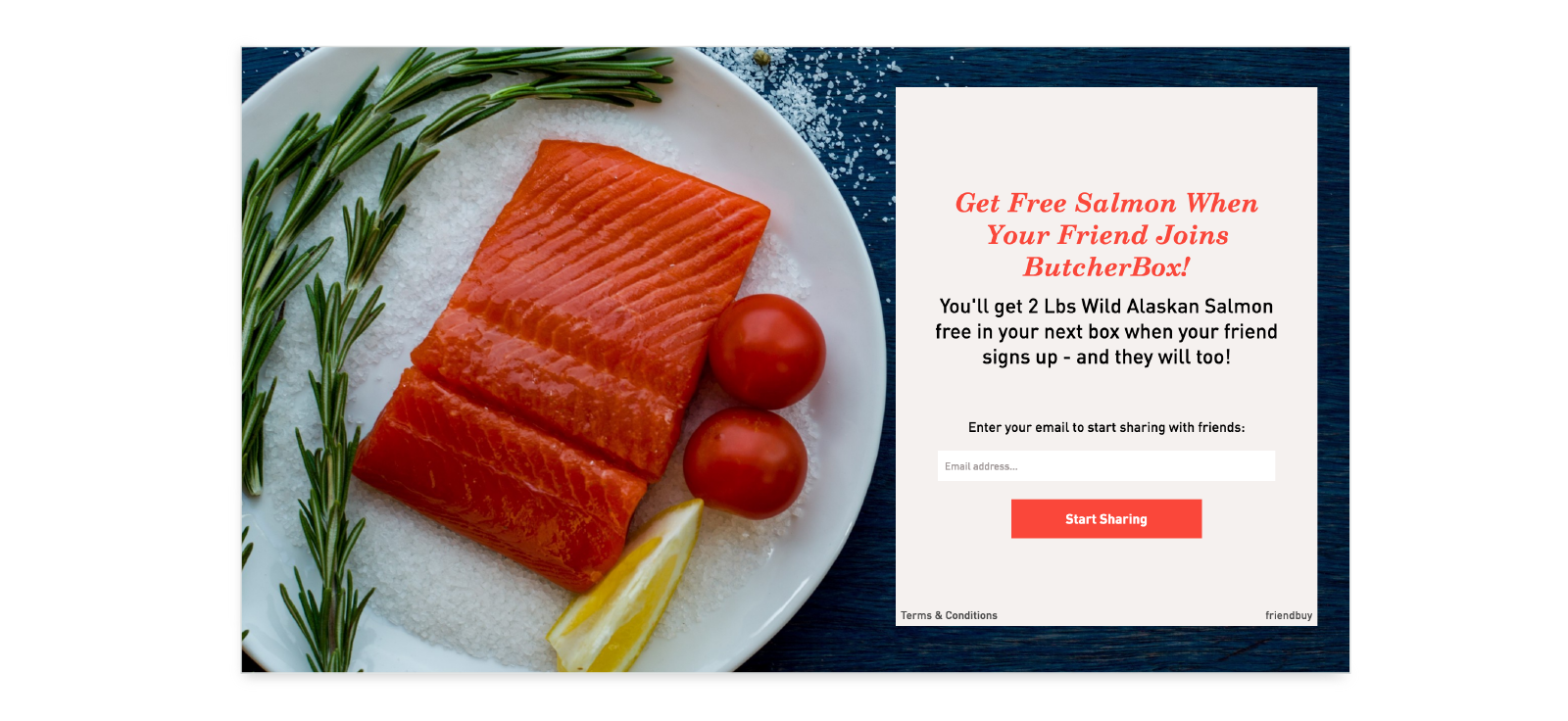butcher box free product referral example