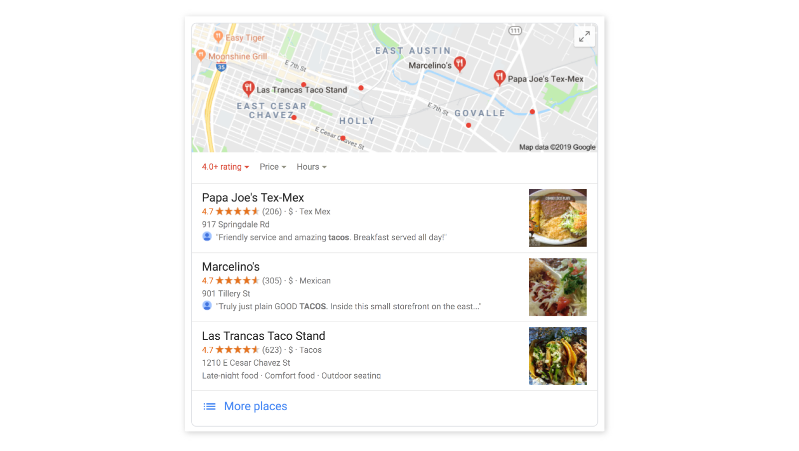 best tacos google search