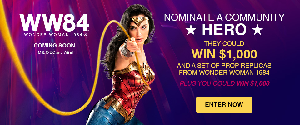 $1,000 Wonder Woman 1984 Movie Sweepstakes